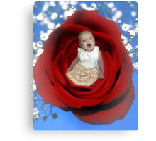 *•.¸♥♥¸.•*Yawning Rose Bud*•.¸♥♥¸.•* Canvas Print