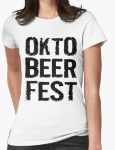 Okto Beer Fest Womens Fitted T-Shirt