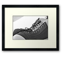 Muse in Black Corset Framed Print