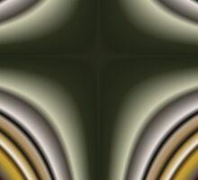 Fractal Cross in CMR 01 Sticker