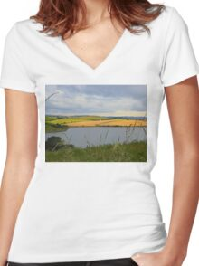 The Land Beyond The Water..................Ireland Women's Fitted V-Neck T-Shirt