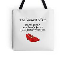 Wizard of Oz Dorothy's Shoes Tote Bag