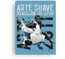 ARTE SUAVE RETRO JIU JITSU POSTER Canvas Print