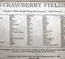 Strawberry Fields - Central Park, Manhattan by Bev Pascoe