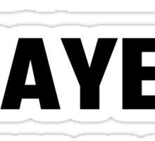 World's Okayest Drummer Sticker