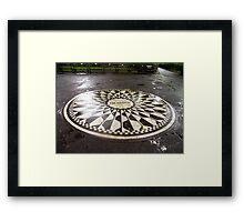 """Imagine"" Mosaic- Strawberry Fields, Central Park, New York Framed Print"