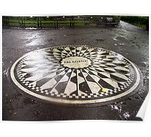 """Imagine"" Mosaic- Strawberry Fields, Central Park, New York Poster"
