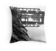 Maribyrnong Goods Train Throw Pillow