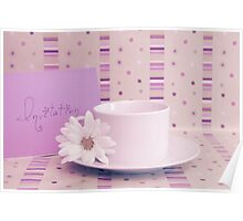 Purple tea invitation card Poster