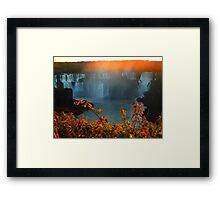 Sunset at Iguassy Falls Framed Print