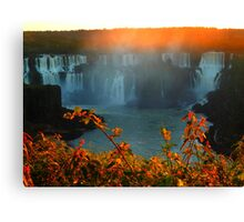 Sunset at Iguassy Falls Canvas Print