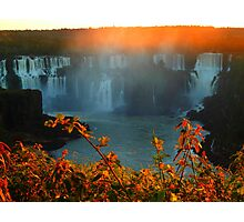 Sunset at Iguassy Falls Photographic Print