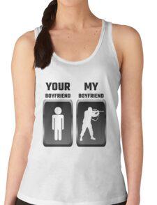 Your Boyfriend My Boyfriend Military Women's Tank Top