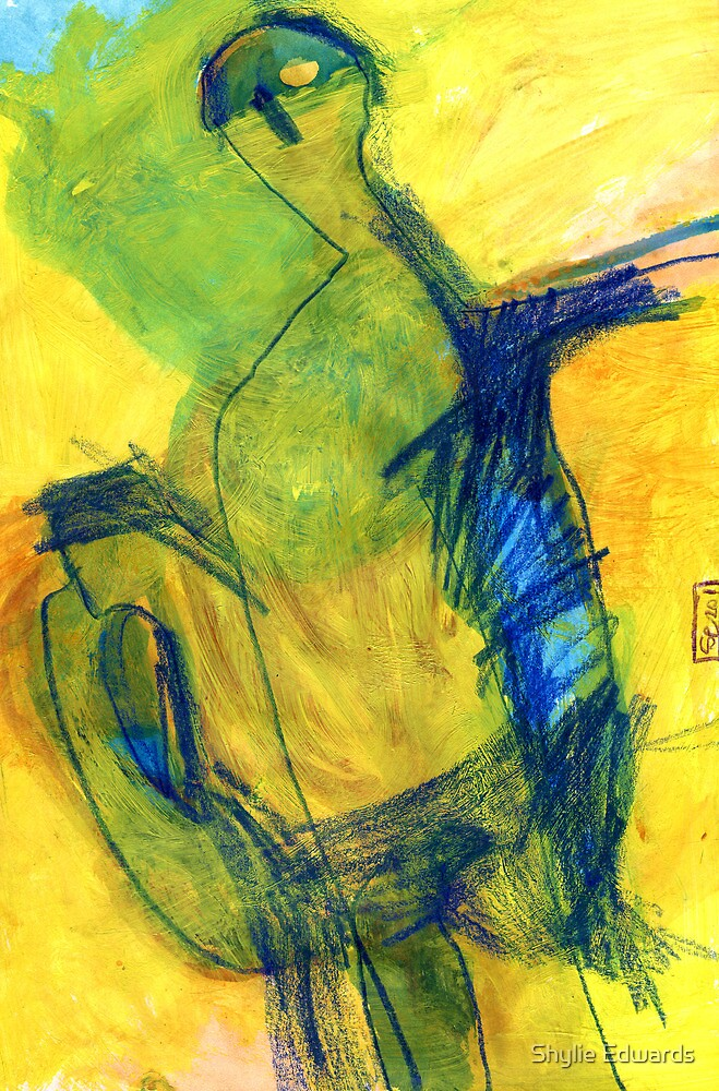 figures in landscape by Shylie Edwards