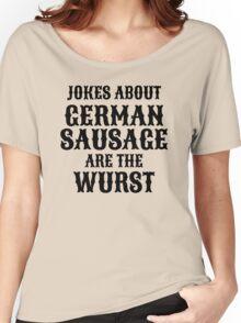 German Sausage Pun Women's Relaxed Fit T-Shirt