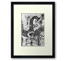 hand battle Framed Print