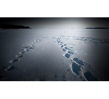 Walking on ice Photographic Print