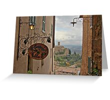 Il Grappolo Blu - Montalcino Greeting Card