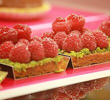 Eat Me - Raspberry and Pistachio Tart by RebeccaHill