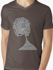 And She Had Flowers in Her Hair Mens V-Neck T-Shirt