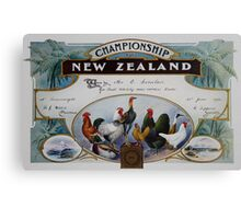 1952 Poultry Championship Certificate.  Canvas Print
