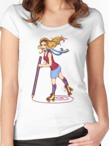 Roller Sketching Women's Fitted Scoop T-Shirt