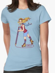 Roller Sketching Womens Fitted T-Shirt