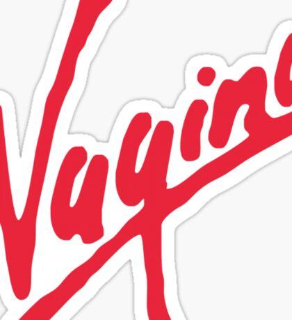 Vagina (for light shirts) Sticker