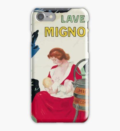 Leonetto Cappiello Affiche Laveuse Mignon iPhone Case/Skin