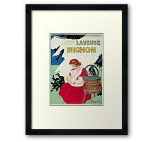 Leonetto Cappiello Affiche Laveuse Mignon Framed Print