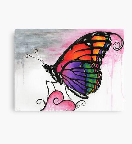 Rainbow Monarch Butterfly Fantasy Art Canvas Print