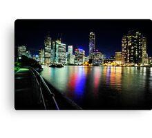 Brisbane City Lights From Captain Burke Park Canvas Print