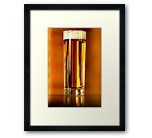 Golden beer Framed Print