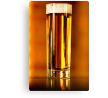 Golden beer Canvas Print