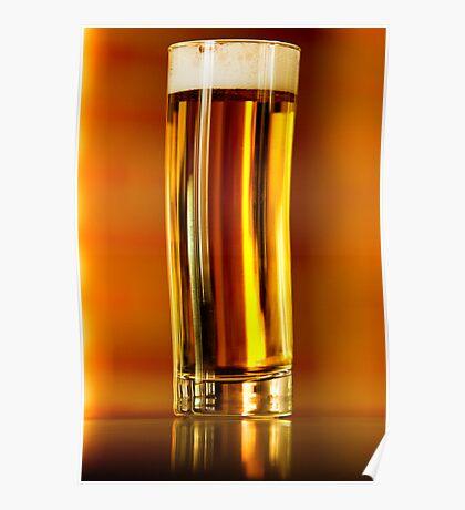 Golden beer Poster