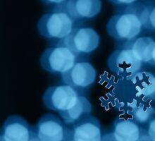 Blue fake snowflake by Jouko Mikkola