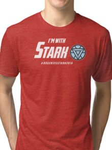 I'm with: Stark Tri-blend T-Shirt