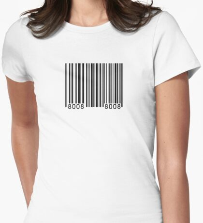 Barcode Womens Fitted T-Shirt
