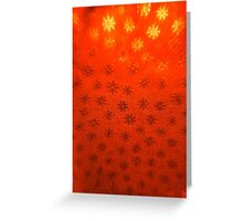 Red Snowflakes Greeting Card