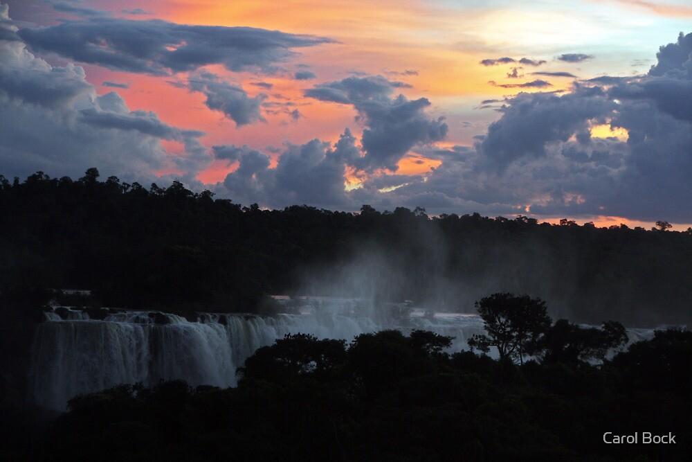 Iguassu Falls Sunset by Carol Bock