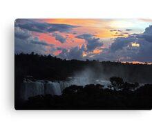 Iguassu Falls Sunset Canvas Print