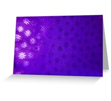Purple Snowflakes Greeting Card