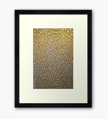 Golden Texture Framed Print