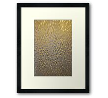 Golden Texture Motion Framed Print
