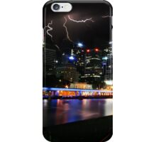 Melbourne Cityscape with Lightning  iPhone Case/Skin