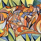 100 - SWIRLING COLOURS - DAVE EDWARDS - WATERCOLOUR - MAY 2003 by BLYTHART