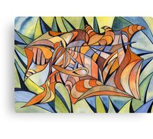 100 - SWIRLING COLOURS - DAVE EDWARDS - WATERCOLOUR - MAY 2003 Canvas Print