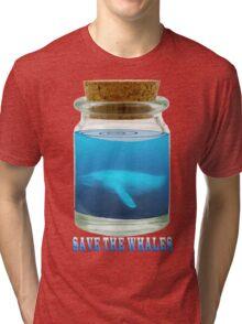 Save the Whales Tri-blend T-Shirt