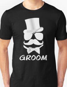 Funny Groom Mustache Top Hat Bow Tie Aviators Unisex T-Shirt