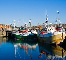 Boats in Padstow by David Wilkins